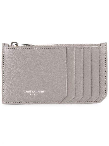 Кожаный кошелек на молнии французский Saint Laurent