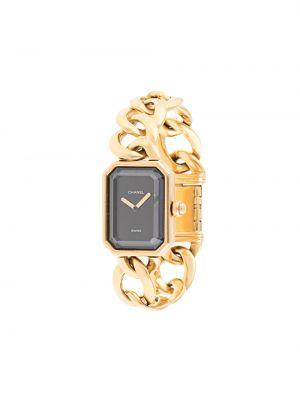 Золотистые кварцевые часы золотые Chanel Pre-owned