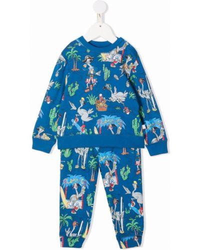 Niebieski dres z printem Stella Mccartney Kids