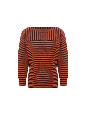 Оранжевый трикотажный пуловер в полоску Chloé