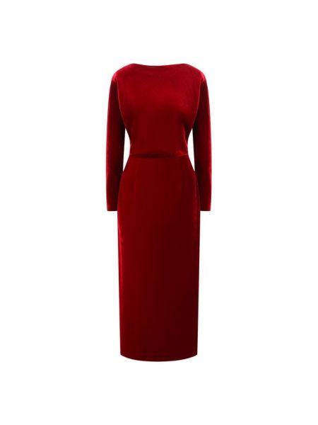 Красное шелковое платье с подкладкой A La Russe