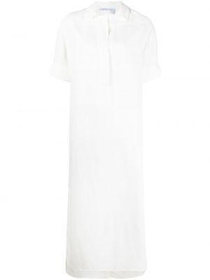 Платье макси трапеция - белое Agnona