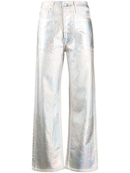 Свободные брюки с карманами на пуговицах Helmut Lang