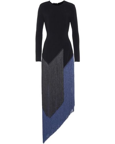 Платье макси с бахромой из вискозы Stella Mccartney