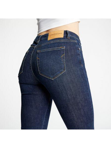 Синие зауженные джинсы-скинни Selected