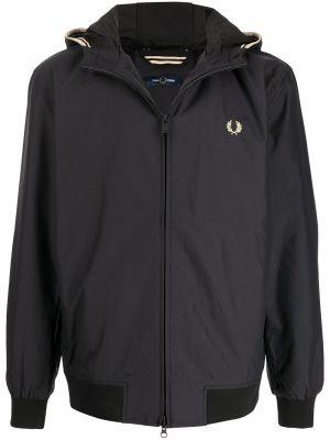 Куртка с капюшоном - черная Fred Perry