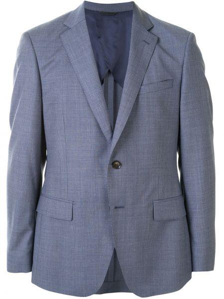 Шерстяной однобортный костюмный костюм классический с карманами D'urban