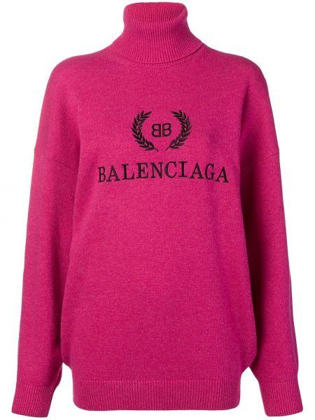 Sweter przeoczenie zimowy bezpłatne cięcie Balenciaga