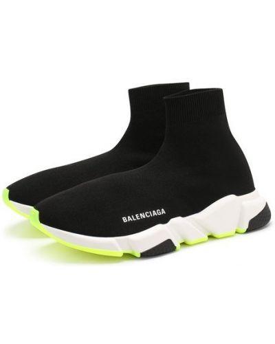 Черные кроссовки текстильные Balenciaga