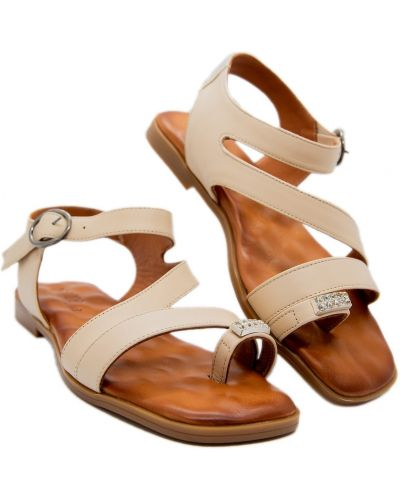 Кожаные сандалии - бежевые Trio Trend