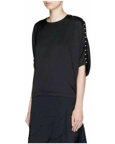 Czarna koszula z haftem Chloe