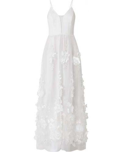 Biała sukienka na wesele rozkloszowana tiulowa Apart Glamour