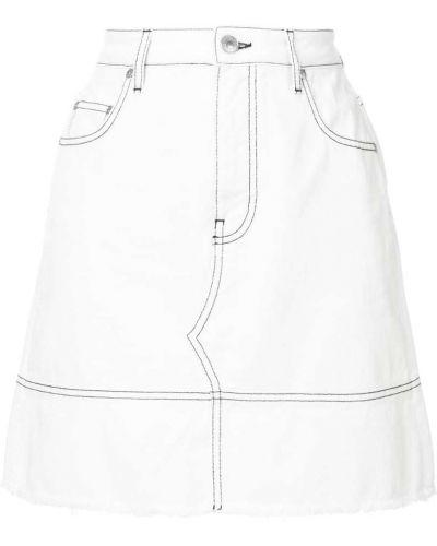 Белая юбка мини Msgm