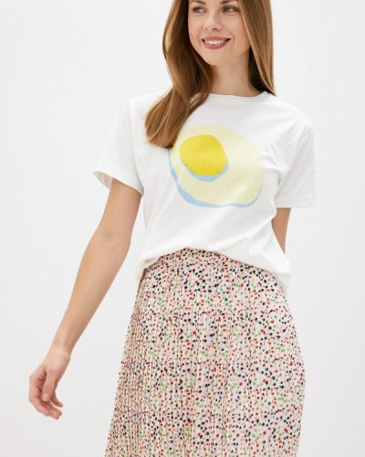 Белая футболка с короткими рукавами Compania Fantastica