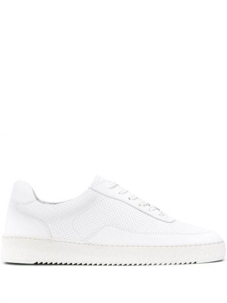 Sneakersy białe perforowany Filling Pieces