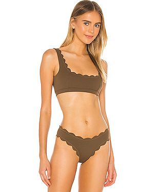 Текстильный коричневый топ Marysia Swim