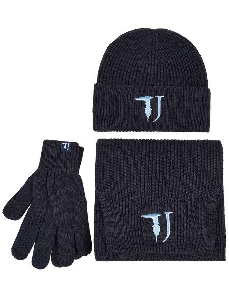Синяя акриловая шапка Trussardi Jeans