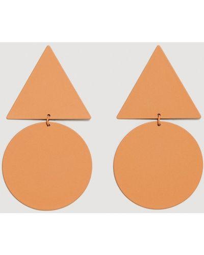 Оранжевые серьги Mango