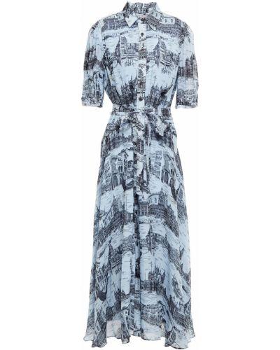 Синее платье макси с подкладкой из вискозы Derek Lam 10 Crosby