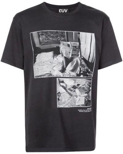 Черная прямая рубашка с короткими рукавами Luv Collections