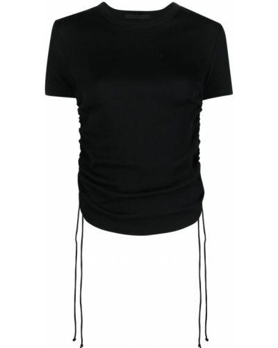 Czarny t-shirt krótki rękaw bawełniany Helmut Lang