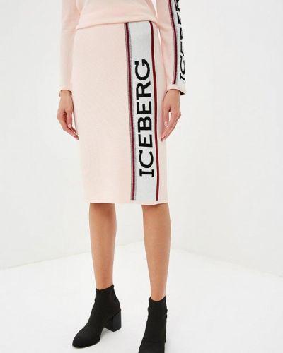 Розовая юбка осенняя Iceberg