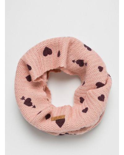 Розовый шарф трикотажный Barts