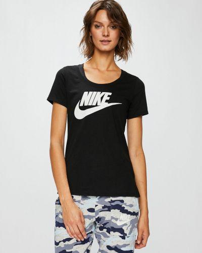 Спортивная футболка черная из вискозы Nike Sportswear