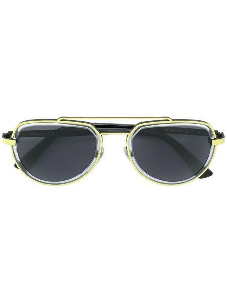 Прямые черные солнцезащитные очки металлические Diesel
