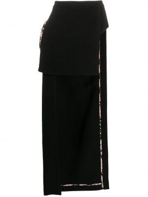 Шерстяная юбка миди - черная Natasha Zinko