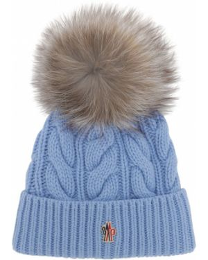 Niebieski kapelusz wełniany Moncler Grenoble