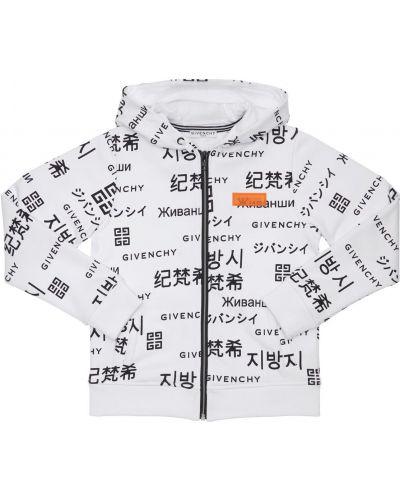 Biała bluza dresowa z kapturem bawełniana Givenchy