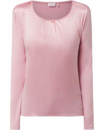 Różowa bluzka z długimi rękawami z wiskozy Gerry Weber