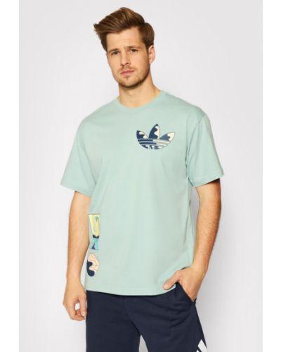 Zielona koszulka na lato Adidas Originals