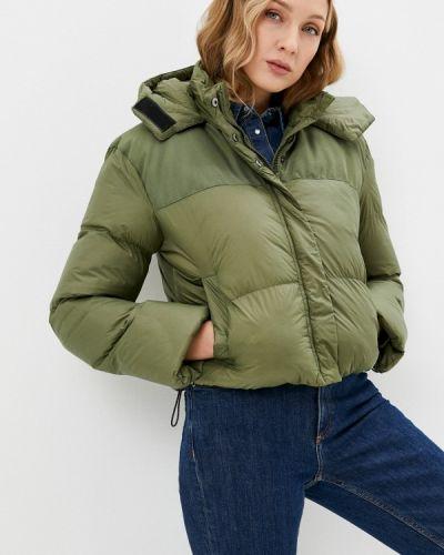 Зеленая утепленная куртка Brave Soul