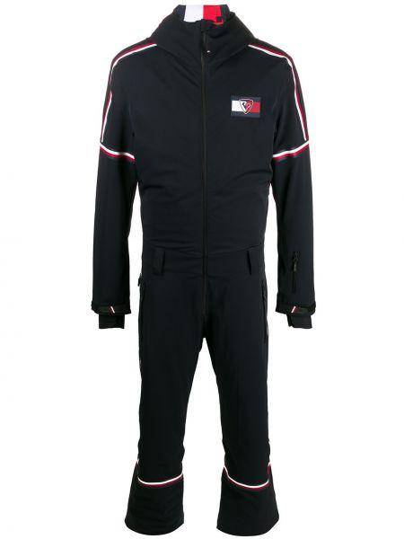 Черная куртка с капюшоном с поясом на молнии с манжетами Rossignol