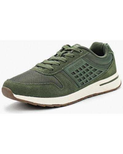 Зеленые кроссовки замшевые Strobbs