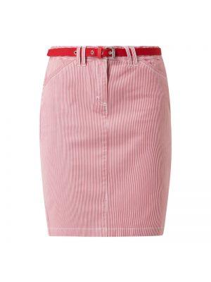 Spódnica w paski z paskiem bawełniana Montego