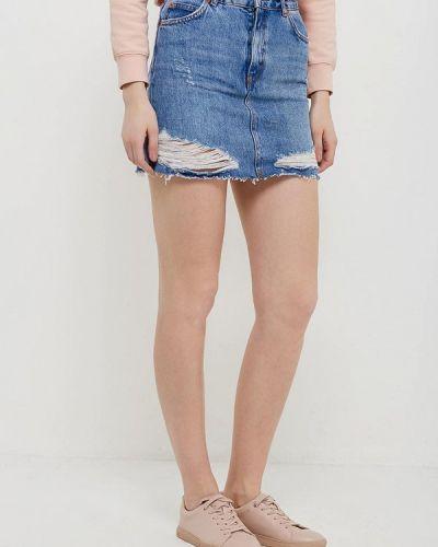 Синяя джинсовая юбка Topshop