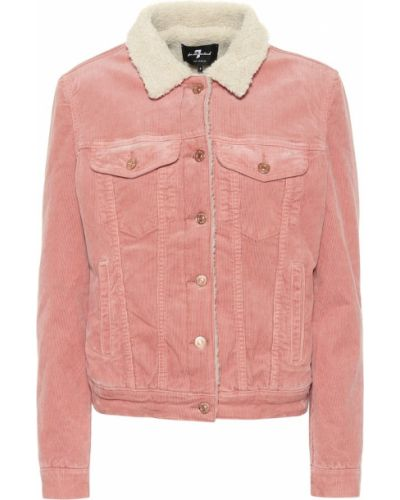 Розовая куртка 7 For All Mankind