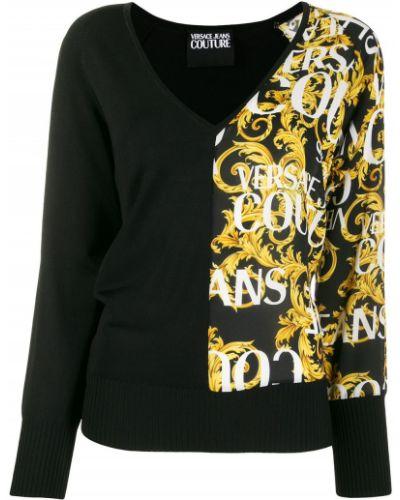 Джинсы в полоску mom Versace Jeans Couture