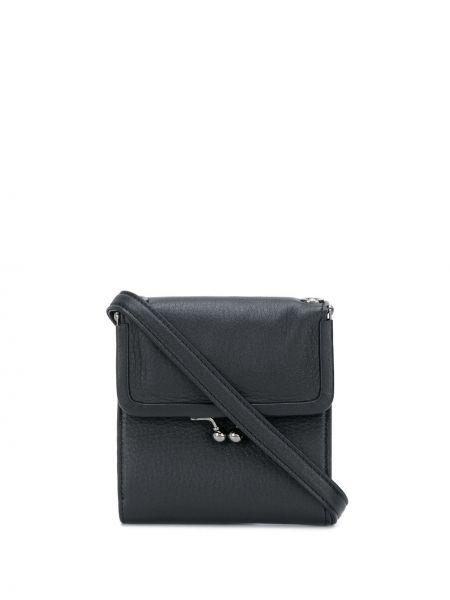 Кожаный черный кошелек Discord Yohji Yamamoto