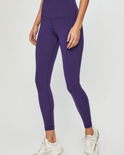 Fioletowe legginsy z nylonu Reebok