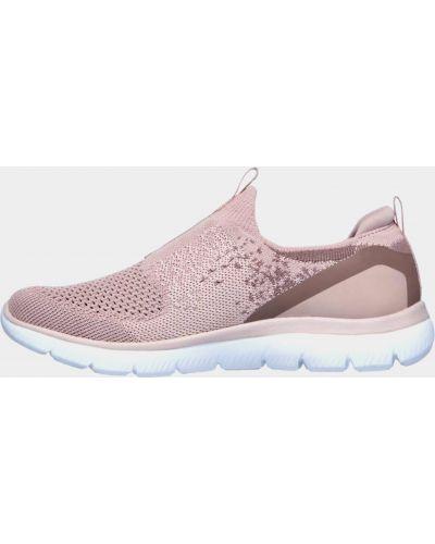 Слипоны - розовые Skechers