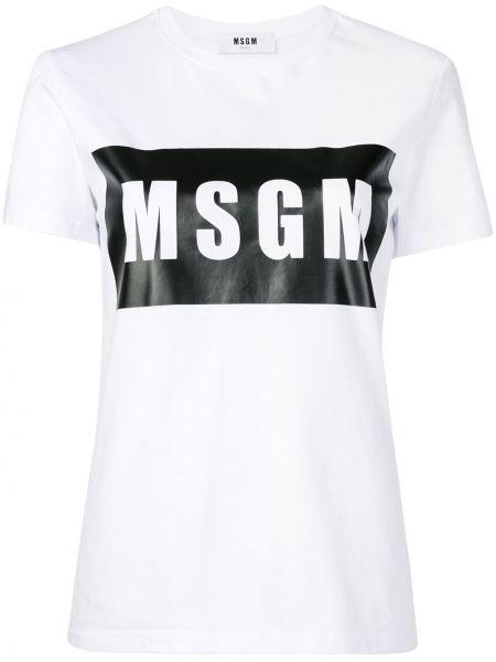 Топ короткий белый Msgm