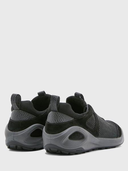 Кожаные черные полуботинки на шнуровке Ecco