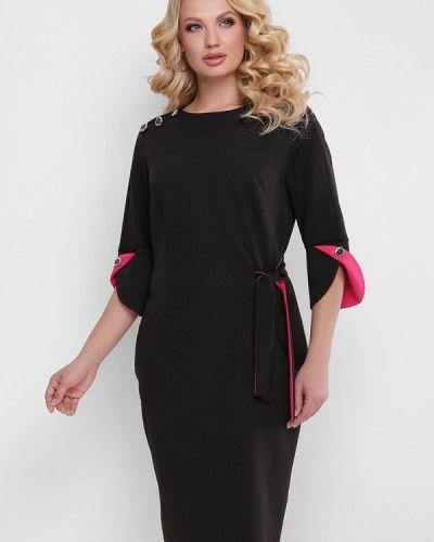 Платье миди - черное Vlavi