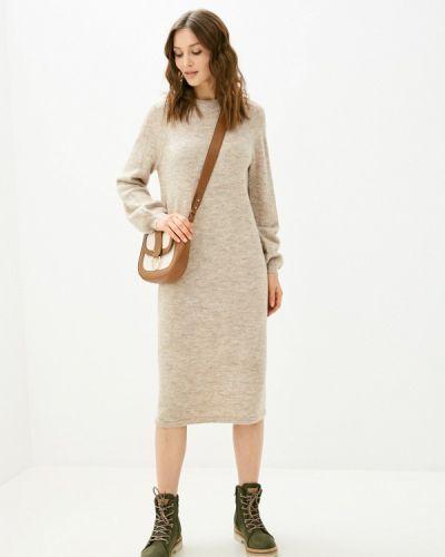 Бежевое вязаное платье Y.a.s