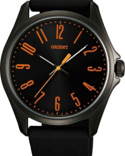 Часы водонепроницаемые с черным циферблатом Orient