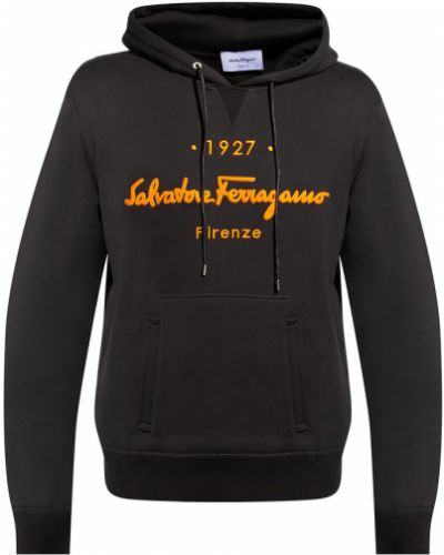 Czarna bluza z kapturem Salvatore Ferragamo